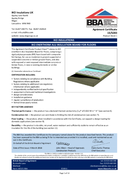 15/5283_1 IKO Enertherm ALU Insulation Board For Floors