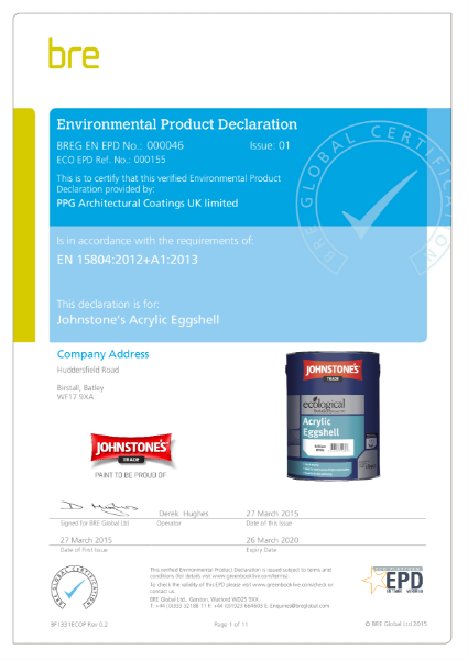 Environmental Product Declaration (EPD) : BREG EN EPD No.: 000046