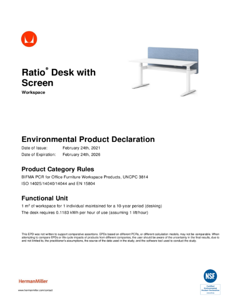 Ratio - Environmental Product Declaration