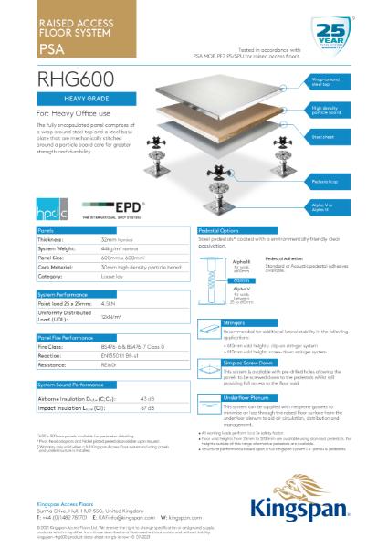 RHG600 (Heavy Grade Access Floor)