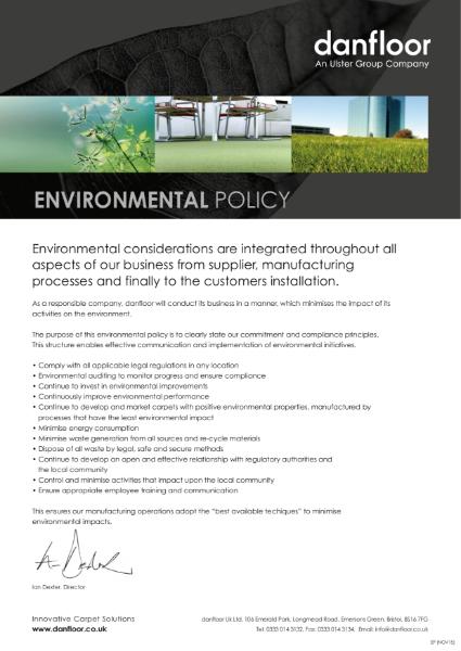 Danfloor Environmental Policy Statement