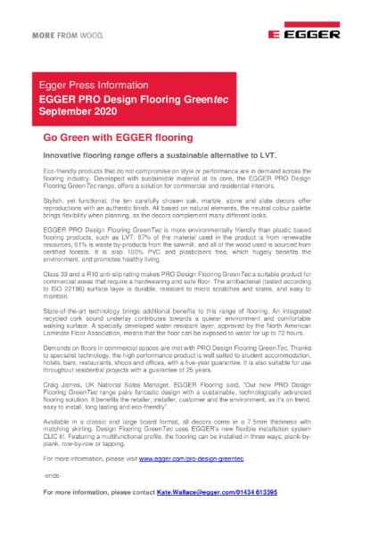 EGGER PRO Design GreenTec