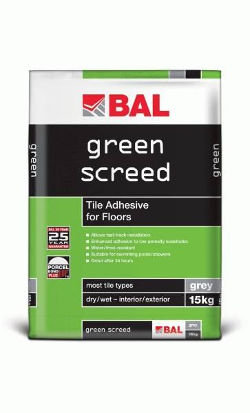 Green Screed - Tile adhesive