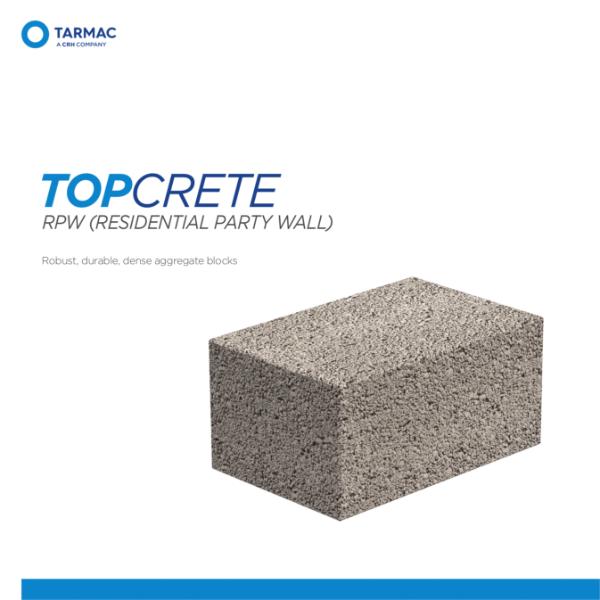 Topcrete RPW - Aggregate Blocks Product Guide