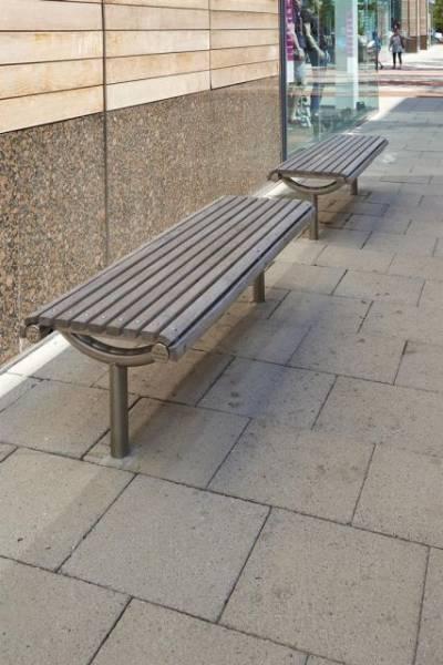 Ollerton M3 Straight Bench with Hardwood Slats