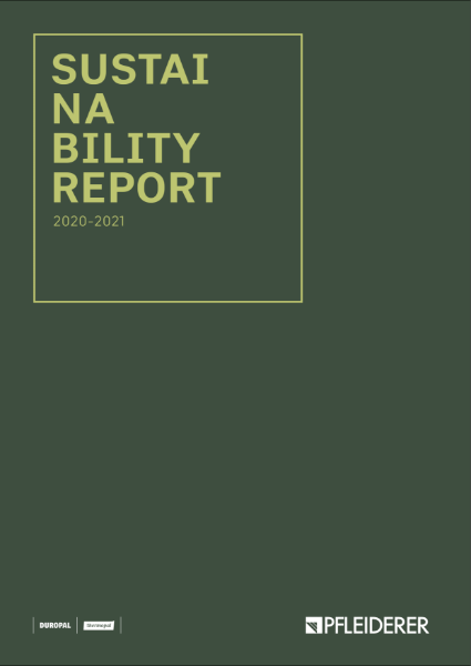 Pfleiderer Sustainability Report 2021