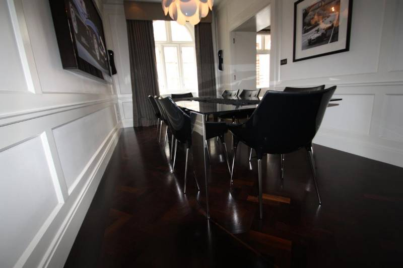Istoria Solid Wenge Parquet for the Jaguar Suite at Buckingham Gate