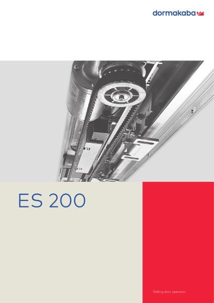 DORMA ES200 - Sliding Door Operator