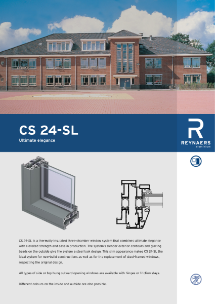 Aluminium Window & Door System - CS 24 SL Slim Line