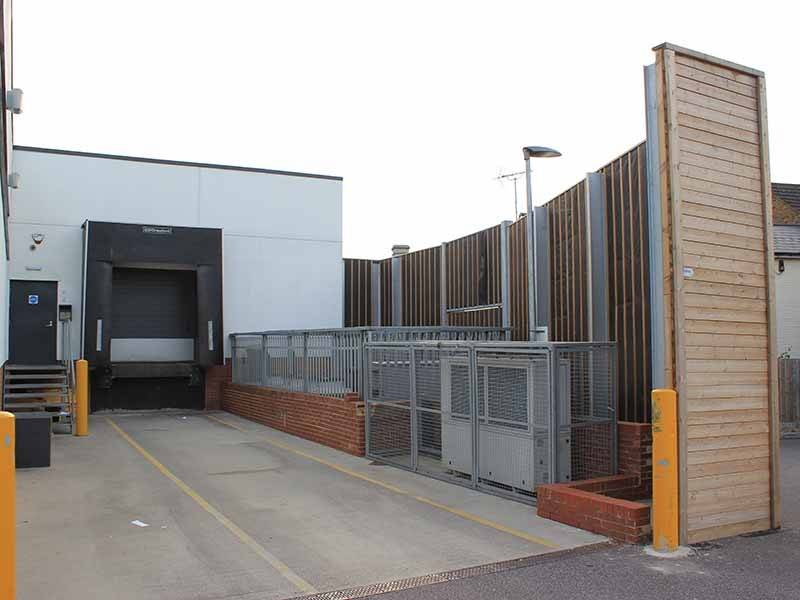 Jacksons Absorptive acoustic fencing reduces noise impact on local residents for inner city supermarkets