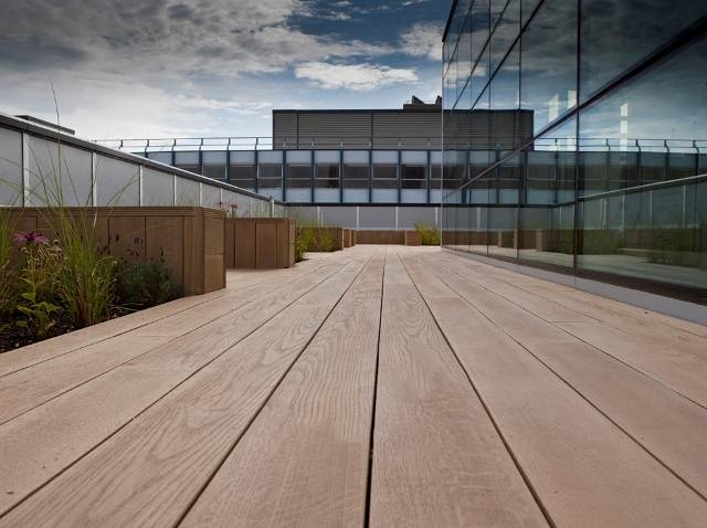 Commercial Composite Decking Case Study - Coventry University Roof Terrace