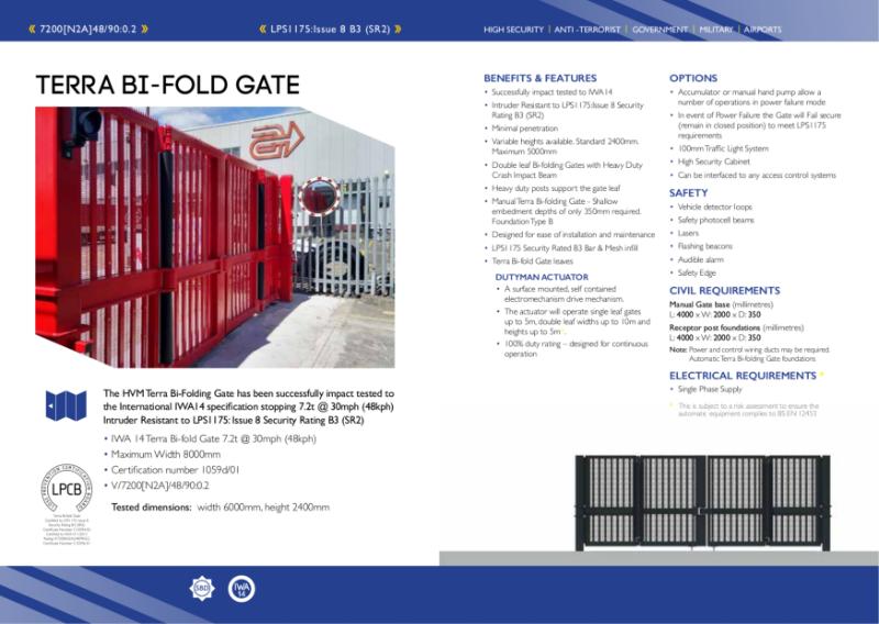 HVM Terra Bi-fold Gate - IWA14 & LPS1175