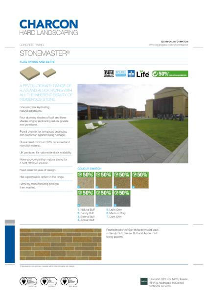 Charcon StoneMaster flag paving & setts