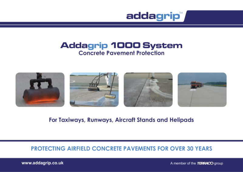 Addagrip 1000 System Concrete Pavement Protection Brochure
