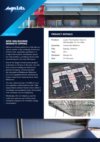 Case Study - New Melbourne Markets Epping