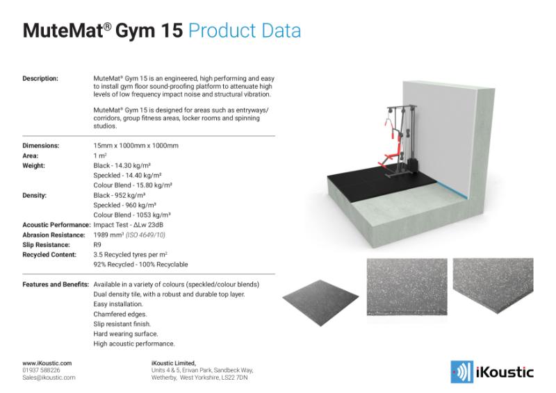 MuteMat® Gym 15