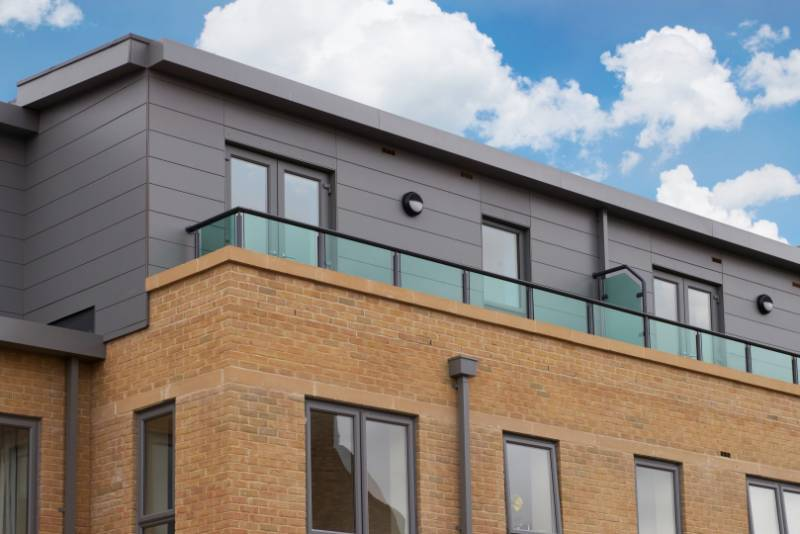 Contemporary balustrade is ideal for apartments
