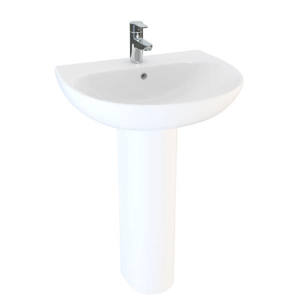 Designer Series 5 45 cm 1TH basin and pedestal