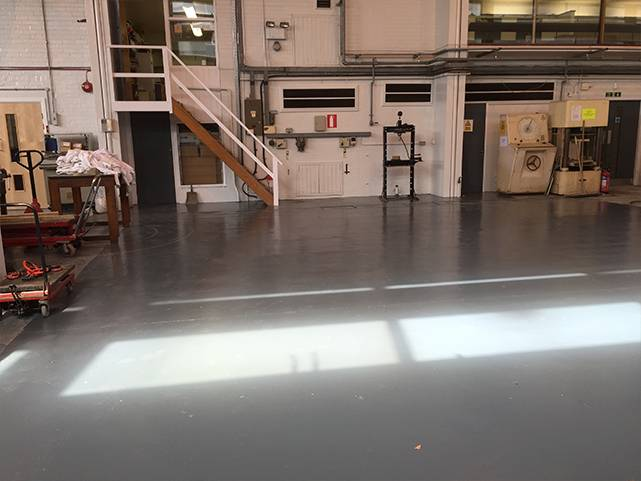 Water based epoxy floor