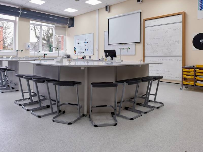 Polyflor brings safety underfoot to laboratories at Withington Girls' School