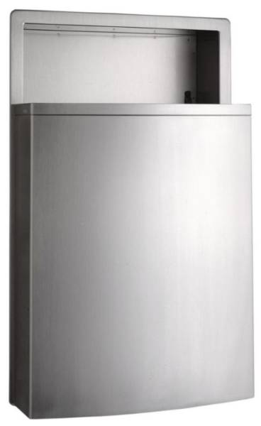 Recessed waste bin B-43644 with LinerMate
