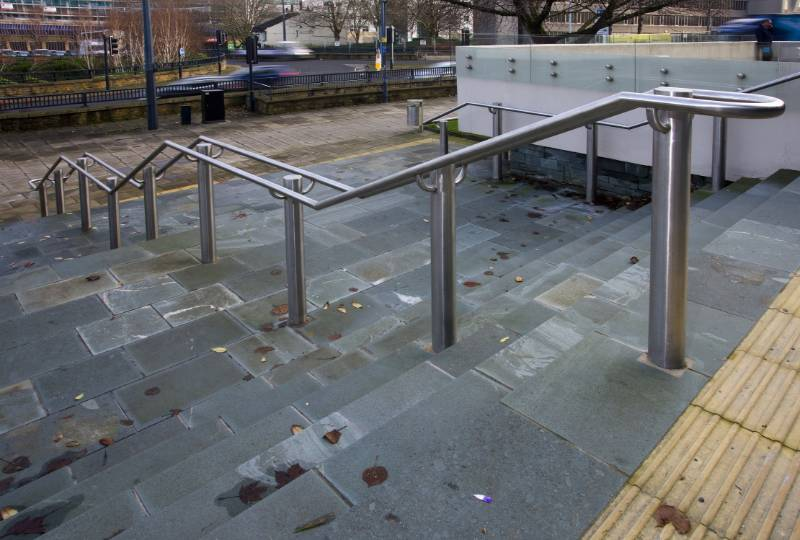 ASF 5006 Stainless Steel Hand Railing, Bradford Library