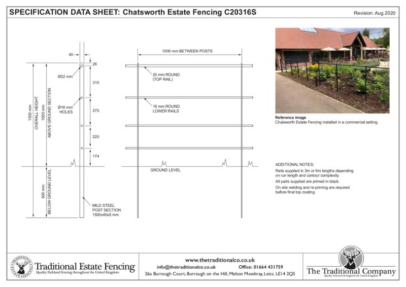 Chatsworth Estate Fencing
