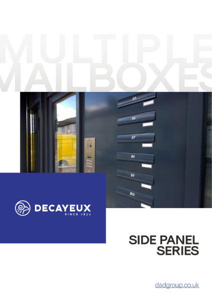 MULTIPLE MAILBOXES - SIDE PANEL SERIES