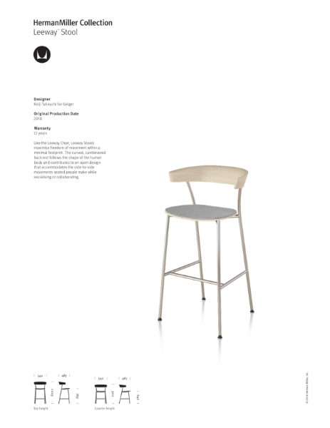 Leeway Stool- Product Sheet