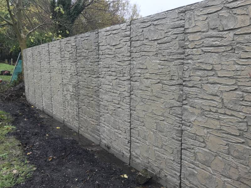 Pattern Imprinted Retaining Wall for Wigan Cemetry