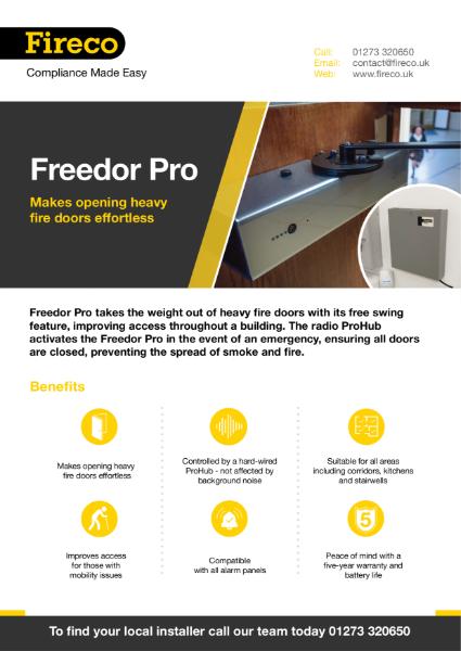 Freedor Pro Product Brochure