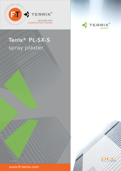 Terrix Polymer silicate spray plaster PL-SX-S