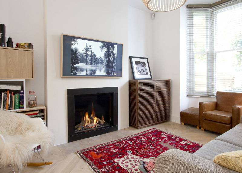 DRU Maestro gas fire completes transformation of classic Camden town house