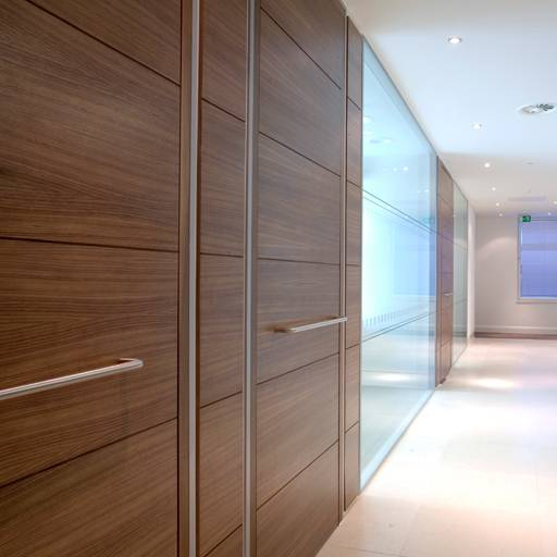 54 mm Thick Timber Door In Microflush Frame -Wood doorsets