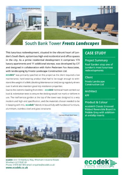 ecodek® Case Study - South Bank Tower, London.