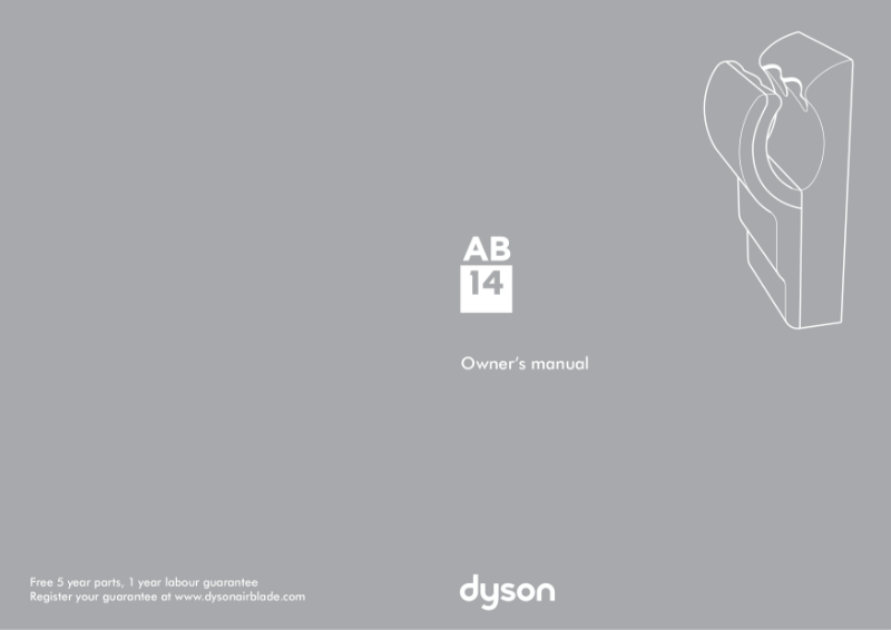 Owners manual - Dyson Airblade dB