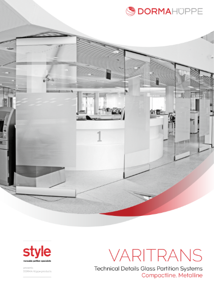 Glass partitioning wall - Varitrans systems