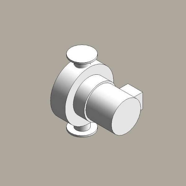 Canned rotor pump, single head