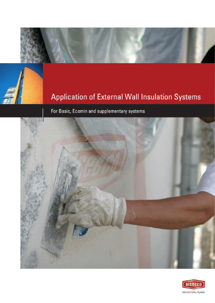 Alsecco External Wall Insulation Application Guidelines