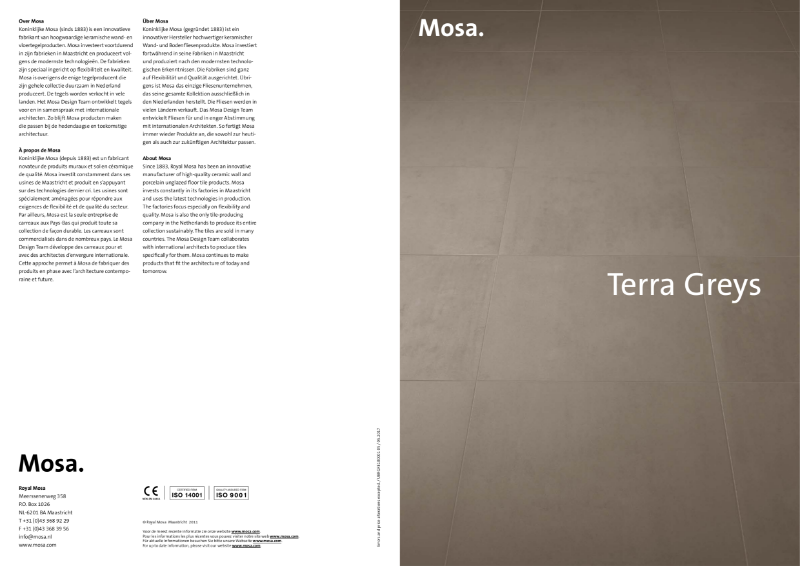 08. Mosa Terra Greys - Twelve shades of grey