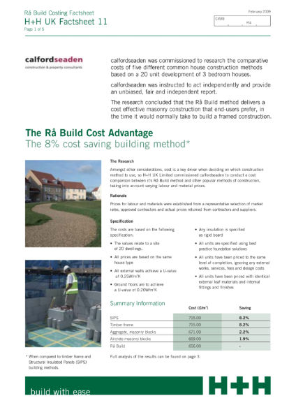 The Rå Build Cost Advantage - The 8% cost saving building method