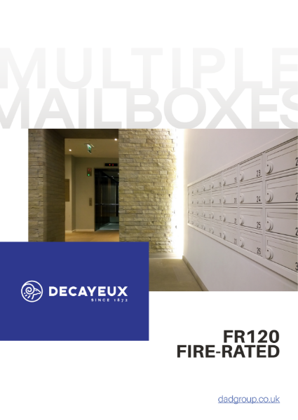 MULTIPLE MAILBOXES - FR 120 FIRE RATED