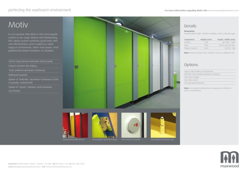 Cubicles - Motiv - high pressure laminate cubicles