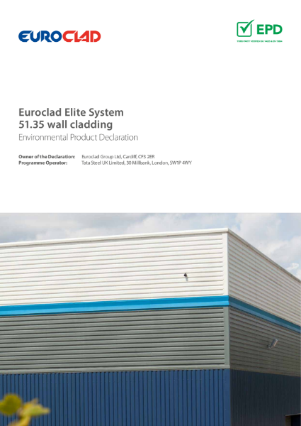 EPD Euroclad Elite System 51.35 wall cladding