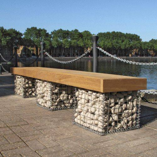 Elements Seat and Bench - Gabions