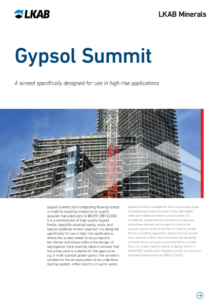 GYPSOL Summit High Rise Screed