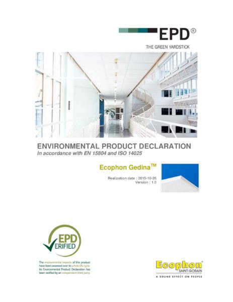 Gedina Environmental Product Declaration