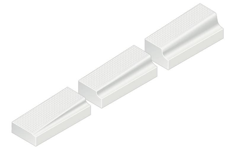 Kassel® Ramp Set No. 1 Kerb - 160 mm right hand