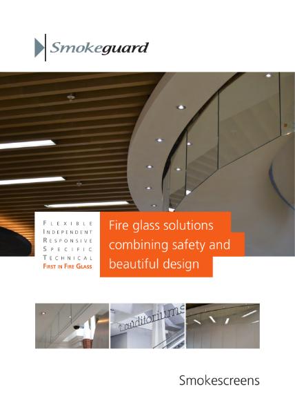 Smoke Barrier Glass Solution - Smokeguard Brochure