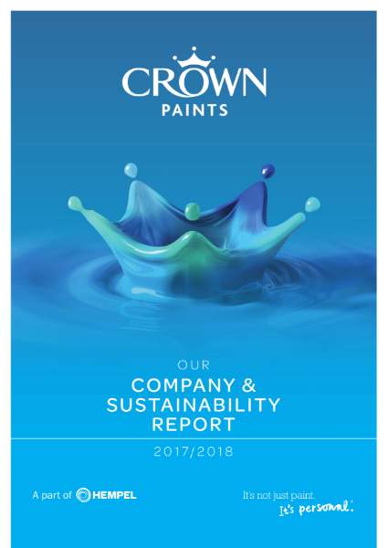 Crown Paints Corporate Social and Sustainability brochure